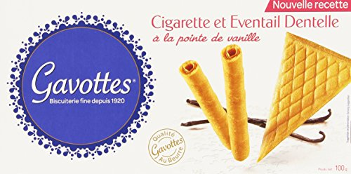 Gavottes Biscuit Cigarette et Eventail Dentelle à la pointe de vanille 100 g