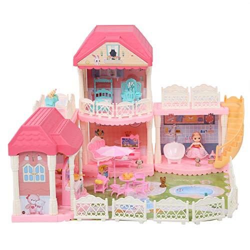 Villa de ensueño DIY casa de muñecas, casa de muñecas, juguetes para viveros y dormitorios, muñecas, juguetes creativos para niños, fiesta de cumpleaños, decoración del hogar