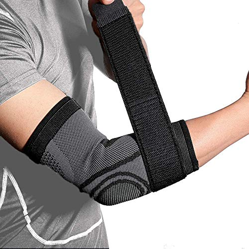 INSTINNCT Elbow Support Brace with Compression Strap for Men and Women, Arm...