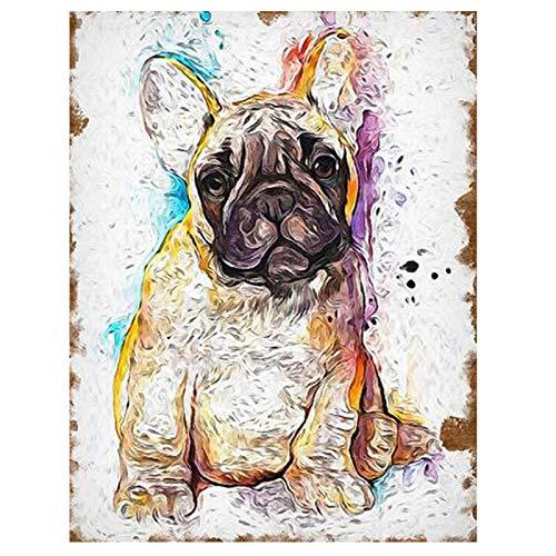 LBGMM 5D DIY Mosaic'Colorful French Bulldog'Diamond Embroidery Sale Diamond Painting Cross Stitch Full Square Wedding Gift