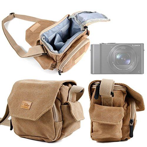 Duragadget - Custodia da trasporto per Canon EOS M5, Olympus E-PL8, Lumix DMC-LX10, DMC-LX15 e DMC-TZ101, Lomography Diana Mini, colore: sabbia