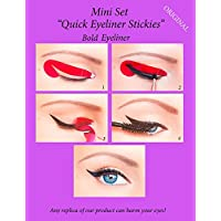 ORIGINAL Quick Eyeliner Stickies MINI SET 24 uds. Plantillas de maquillaje de ojos pegajosas pegatinas