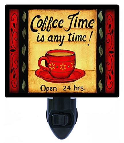 Kitchen Night Light, Coffee Time is Any Time Horizontal