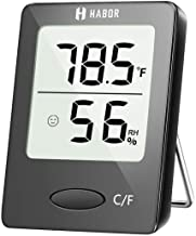 Habor Room Thermometer, [Mini Style] Humidity Meter, Hygrometer Thermometer and Humidity Monitor with LCD Display and Face Icons, Monitor Temperature and Humidity for Home Office Nursery Comfort