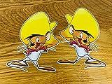 Speedy - Juego de pegatinas de ratón, diseño de cómic antiguo