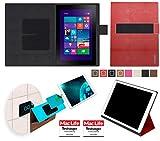 reboon Hülle für Dell Venue 10 Pro Tasche Cover Case Bumper | Testsieger | Rot Leder