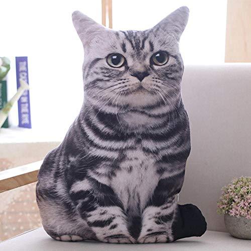 Junsansir 1 stücke 50cm Simulation Plüsch Katze Kissen Weiche Kuscheltiere Kissen Sofa Decor Cartoon Plüschtiere für Kinder Kinder Geschenk,1