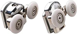 ECYC 2Pcs Shower Door Rollers Shower Room Double-wheeled Cabins Bathroom Pulleys, 25mm