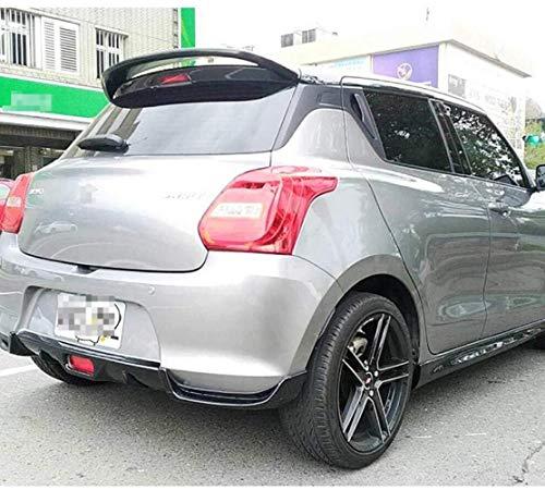 QIXI Abs Auto Heckkoffer Top Wing Heckspoiler Für Suzuki Swift 2005-2015, Punch Free 3M Adhesive Und Einfache Installation (Farbe, Rot), Schwarz