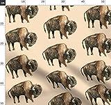 Büffel, Bison, Wald, Bauernhof, Kanada, Tara Put Stoffe -