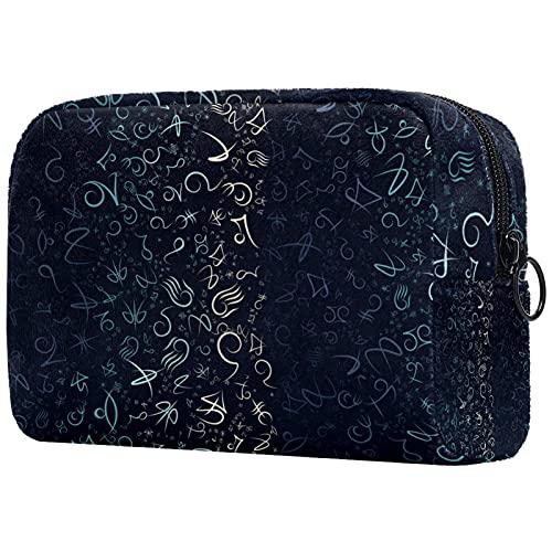 Trousse de Maquillage,Sac de Maquillage,Trousse de Toilette,Symbole Symbole Simple symétrique coloré ,Boîte de Rangement cosmétique