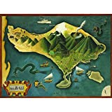 Wee Blue Coo Paintings Map Bali Indonesia Volcano Animal