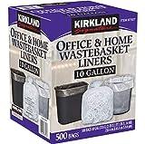 Kirkland Signature Wastebasket Liners, Clear, 10 Gallon, 500 ct...
