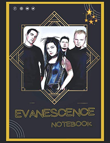 Evanescence Notebook: A Large Notebook/Composition/Journal Book with Over 120 College Lined Pages - Great Gift for a Close Friend or a Family