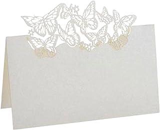 Greeting Cards اسم الجدول بطاقة فراشة اسم الجدول اسم مكان بطاقات الليزر قطع الدانتيل اسم رسالة إعداد بطاقة مقعد الزفاف حفل...