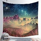 nobranded Tapiz de Cielo Estrellado Azul Tapiz Espacial del Universo Tapiz de Pared Estrellas misteriosas Tapiz de Pared para Dormitorio de la Sala de Estar