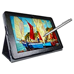► DRAW or TAKE NOTES: The most affordable tablet that comes with a pen and a pre-installed Autodesk Sketchbook app for those who want to draw pictures or take notes in the classroom. ► 3 FREE BONUS ITEMS inside the box: a high-quality tablet case, un...