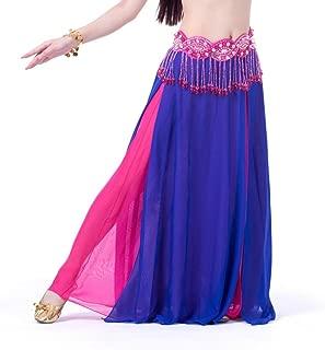 ChYoung Frauen Chiffon Röcke Bauchtanz Kostüm Kleider Multi Layered Rumba Rock Dance Dress Dancewear