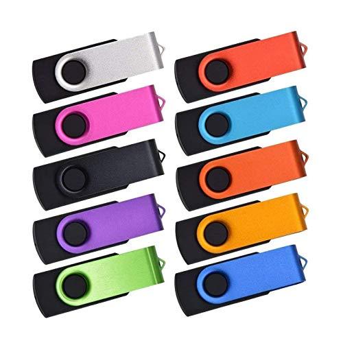 Chiavetta USB 20 Pezzi 128MB Pennette USB 2.0 Kepmem Economico Piccola capienza 128 MB Pendrive Metallo Girevole Memoria Stick Rapporto Qualità Portatile Chiave USB Divertenti Penne USB Regalo