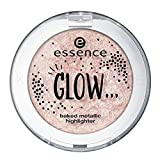 Essence GLOW ... baked metallic highlighter Nr. 03 like glitter is raining down on you Inhalt: 5g...