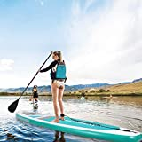 MaxKare SUP Inflatable Stand Up Paddle Board with Bi-Directional Pump (10-15 Minutes Inflat), 10' Long 30'' Wide 6'' Thick, Max Weight Capacity 330 lbs Enough for 1-2 People