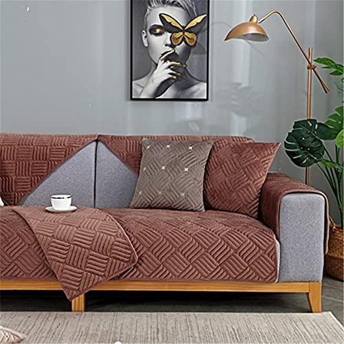 YHWW Fundas de sofá,5 Colores de Invierno Funda de sofá de Felpa Antideslizante Moderna Funda de sofá cojín de Asiento sofá Toalla Fundas de sofá para Sala de Estar decoración del hogar, W90