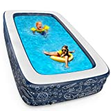 GALVANOX Above Ground Pool (10x6Ft) Extra Large Swimming Pool for Family, Kids and Adults (Midnight Blue)