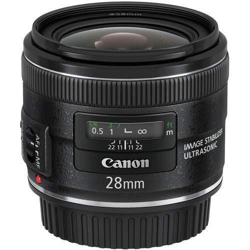 Canon EF 28mm f/2.8 IS USM - Objetivo para Canon (Distancia Focal Fija 28mm, Apertura f/2.8-22, estabilizador, diámetro: 58mm) Negro