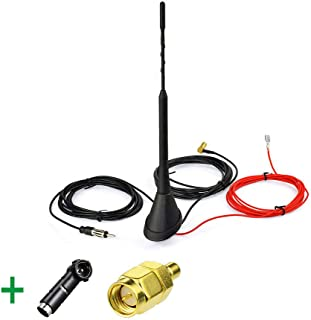 FidgetKute DAB Radio Active Antenna Aerial Roof Mount SMB with ISO SMA Adapter Show One Size