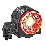 G Keni Bike Alarm Tail Light with Remote, Anti-Theft Rear Bike Light with Smart Brake Sensing, Ultra Bright Bike Tail Light, Rechargeable Bike Taillight , Waterproof Bicycle Alarm