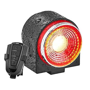G Keni Bike Alarm Tail Light with Remote Anti-Theft Rear Bike Light with Smart Brake Sensing Ultra Bright Bike Tail Light Rechargeable Bike Taillight  Waterproof Bicycle Alarm