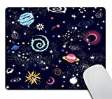 Smooffly Space Mouse pad Stars Mouse pad Cute Mouse pad Rectangle Mousepad Colorful Planets Mouse pad Constellation