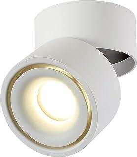 Dr.lazy 10W LED Focos para el techo,Focos de pared, Lámpara de techo, Focos de pared, Lámpara de salón, Luz de techo led, Plafón con Focos, IP20, 10X10x10CM (Blanco-4000K)