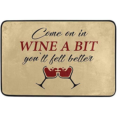 dingjiakemao entree manier deurmat, kom op in wijn een beetje je zal vallen beter tapijt niet slipmatten badkamer keuken decor gebied tapijt 60 X 40 cm