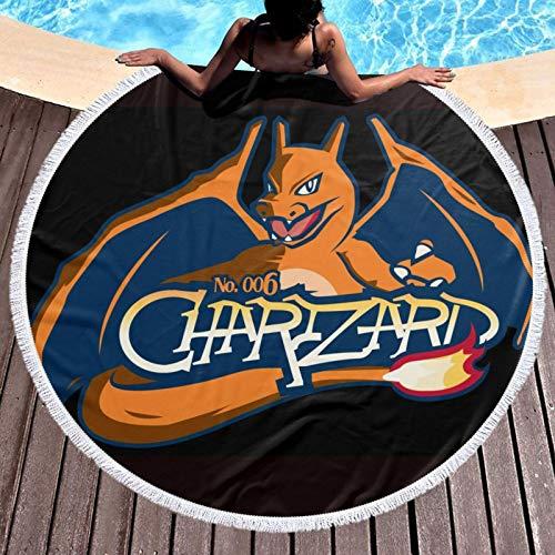 Po-ke-mon-Mega-Charizard Toalla de playa de microfibra sin arena, manta de playa de secado rápido, absorción de agua, picnic, natación, ducha, toalla de baño de piscina
