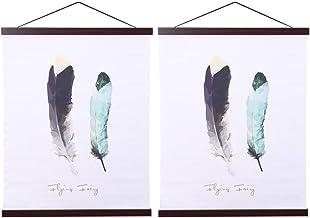 Ywlake Magnetische Poster Hanger, 22x34 22x28 22x14 Poster Frame Hout Houten Magneet Print Posters Deuvel Scroll Hanger Ha...