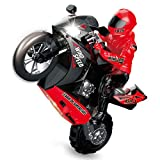 NUCHE Mini Motorcycle Toy Kids Electric Remote Control RC Motorcycle 2.4Ghz Racing Motorbike Toys for Children