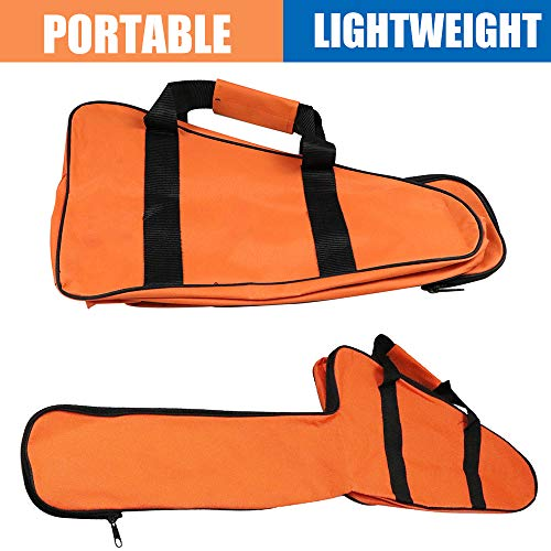 Chainsaw Bag Carrying Case 16inch,Universal Chainsaw Storage Bag Compatible with Stihl/Ego/Ryobi/Crafsman/Husqvarna 12'',14'',16'' Chain Saws