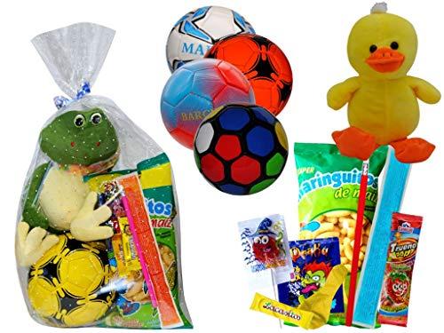 Lote de 3 Balones de Balonmano con Golosinas y Peluches en Bolsas...
