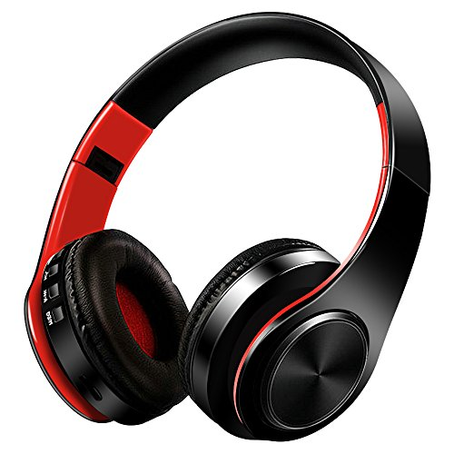 Bluetooth Headphones Over Ear,Nakeey Noise Cancelling Stereo Wireless Headset,Bluetooth 4.1 Wireless Headphone Headset with Microphone for PC/ Cell Phones/TV