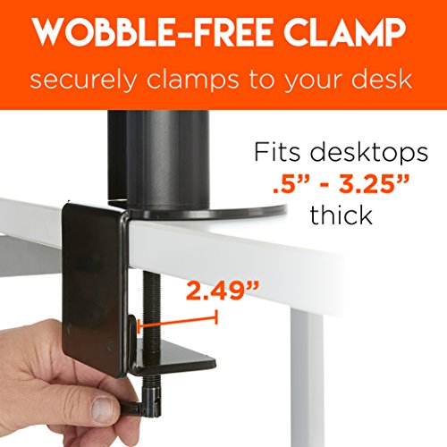 ECHOGEAR Triple Monitor Desk Mount Stand for 3 Screens Up to 27
