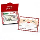Big Dot of Happiness Jolly Santa Claus - Holiday and Christmas Money and Gift Card Holders - Set of 8
