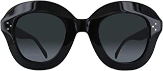 db934407d3e2 Celine CL41445 S 807 Black Lola Round Sunglasses Lens Category 3 Size 46mm