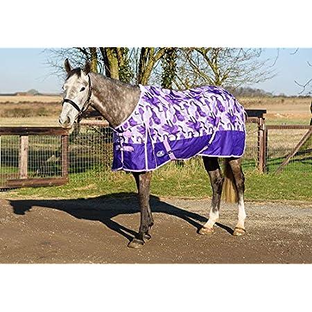 Shires Tempest Original 200G Horse Turnout Rug Full Neck Combo in Pink Nebular