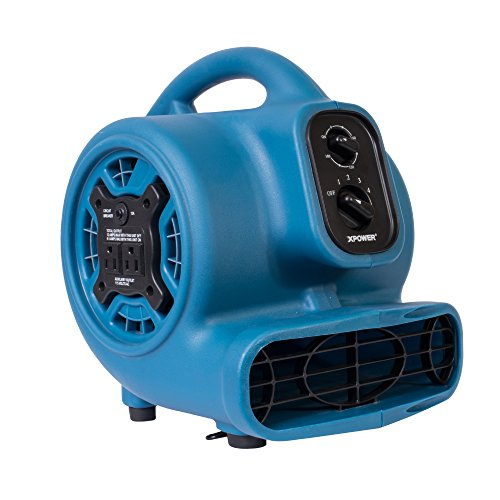 XPOWER P-230AT-Blue 925CFM Mini Mighty Air Mover Utility Blower Fan