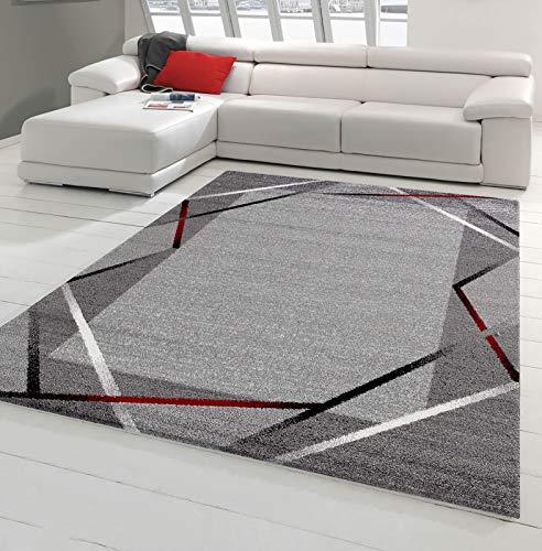 Koton Tapis de Salon Santana Gris, Noir, Rouge (120 x 160 cm)