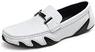 Mens Loafers Casual Boat Shoes Genuine Leather Slip On Driving Summer Breathable Moccasins Flats Shoes