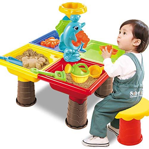 Juego de Juguetes de Playa, Juego de Mesa de Arena y Agua Juego de Arena de jardín Cubo de Pala para Regalo de niños