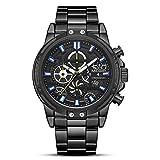 Uhren, Herren Quarzuhren, Mode Analog Armbanduhr Ultra Thin 30M Wasserdichtes Kleid Edelstahl Mesh...