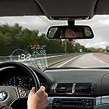 BLESYS - 5,5' automobile multicolore HUD Head Up Display Impiegare Nano Tecnologie per la rimozione del riverbero e trasparente HUD Display senza riflessione cinematografica Lavorare con OBD2 / EOBD auto